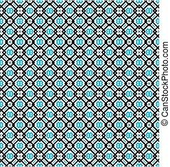 turkooizen blauw, model, seamless, zwarte achtergrond, witte , of