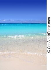 turkos, karibisk, sand, kust, hav, vita strand