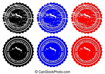 Turks and Caicos Islands - rubber stamp - vector, Turks and...
