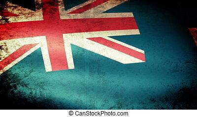 Turks Caicos Islands Flag Waving