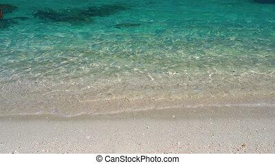 turkus, egzotyczny, woda, wyspa, przeźroczysty, powierzchnia...