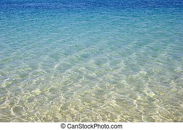 turkus, seascape., piękno, w, natura, wallpaper.