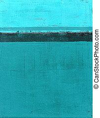 turkus, sztuka, abstrakcyjny