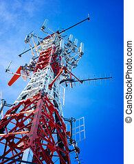 turm, telekommunikation