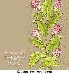 turmeric flower background - turmeric flowers vector pattern...