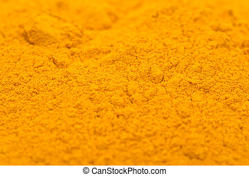 Turmeric Powder Close Up Details