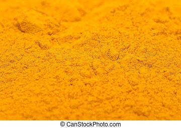 Turmeric Powder Close Up Details
