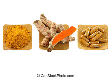 Turmeric rhizome, powder, capsules - Turmeric rhizome,...