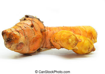 turmeric, rizoma, branco, fundo
