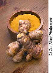 Turmeric root (Curcuma longa) - Turmeric (Curcuma longa) is...