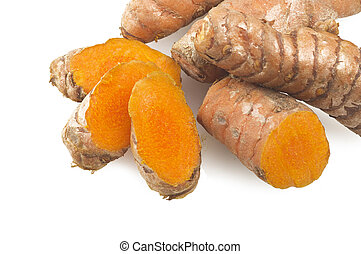 turmeric root slices and powder - turmeric root and some ...