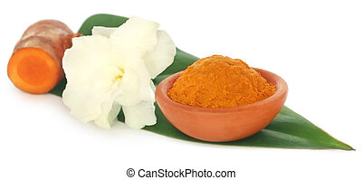 Turmeric with white flower
