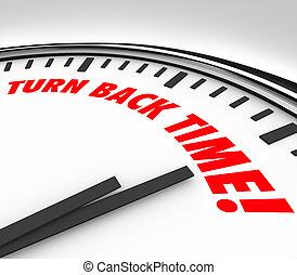 Turn Back Time Clock Reverse Aging Flashback - Turn Back...
