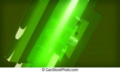 turn, geometric, green