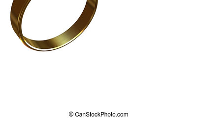 Turn gold wedding ring. With alpha - Transition from the...