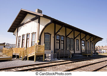From the early 1900's an old Victorian style train station from a small town in Pennsylvania