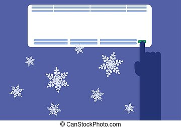 Turn on air conditioner - Turn on a powerful air conditioner...