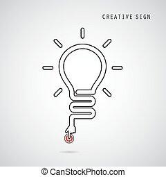 Turn on Creative light bulb concept. Business idea and...