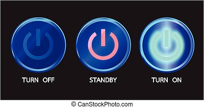 turn on - graphic of switch electronic equipment