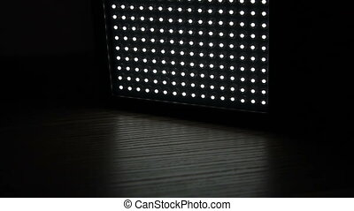 Turn on of led light panel