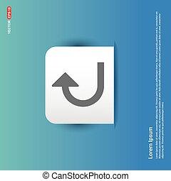 Turn right arrow icon - Blue Sticker button