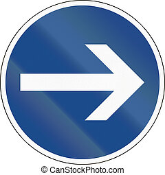Turn Right - German traffic sign: Turn right