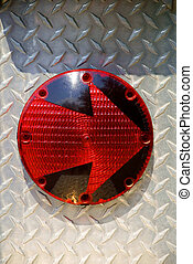 Turn Signal - Detail of a turn signal on a fire truck