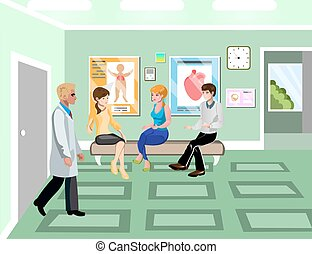 Turn to doctor in hospital concept.