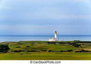 Turnberry lighthouse in Scotland - Tunberry lighthouse in...