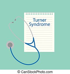Turner syndrome written in a notebook- vector illustration