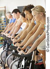 turnhalle, besetzen cycling, spinnen, klasse