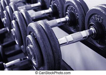 turnhalle, gewichte