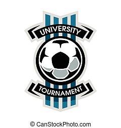 turniej, uniwersytet, piłka nożna, logo.
