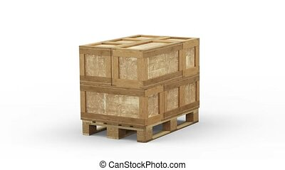 Turning around a Wood Pallet loaded with different size of ...
