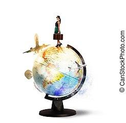 Turning around the world