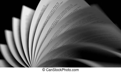 Turning book pages, loopable animation - Turning book pages,...