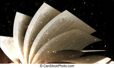 """turning, book"", vieux, pages"