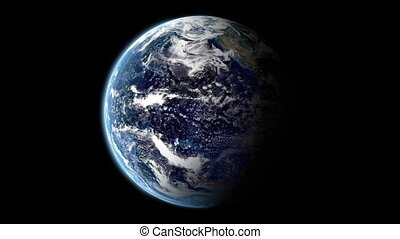 turning earth background