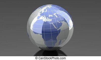 Turning Globe - Loopable