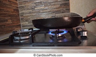 Turning On and Off a Stove Burner - Turning on and off a...