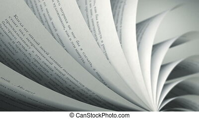 Turning Pages (Loop) Russian Book - Book pages with random...
