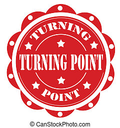 Turning Point-label - Label with text Turning Point,vector...