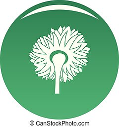 Turning sunflower icon vector green