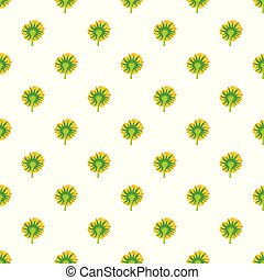 Turning sunflower pattern seamless vector