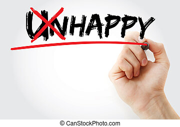 Turning the word Unhappy into Happy