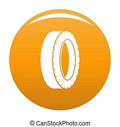 Turning tire icon orange