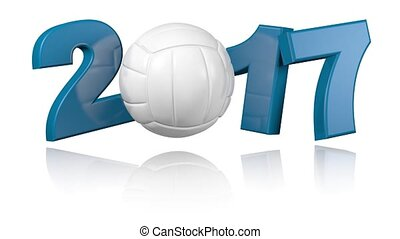 Volleyball 2017 with a white background - Turning Volleyball...