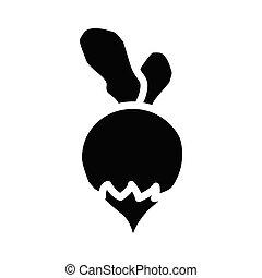 turnip glyph flat vector icon