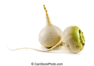 turnip isolated on white background