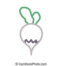 turnip thin color line ector icon